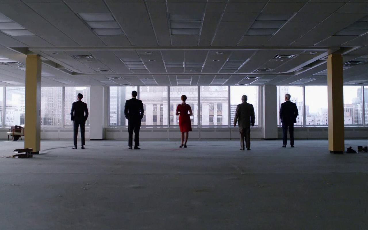 suicideblonde:  Sterling Cooper Draper Holloway  Easily my favorite shot from this entire season.