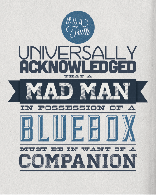 doctorwho:  It is a truth… by ladygranthams