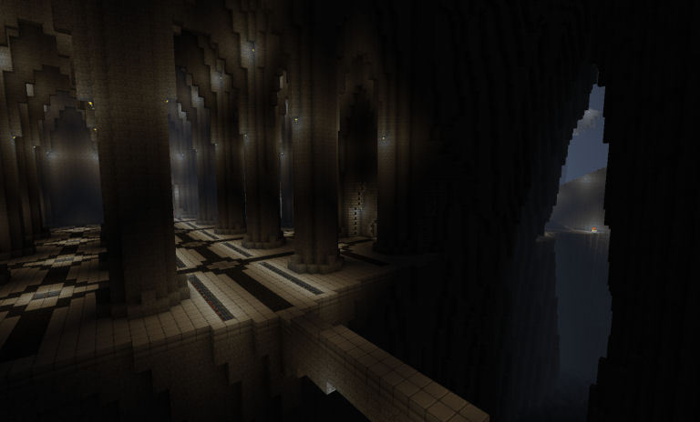 Minecraft Moria. Hand-dug. Built to scale.