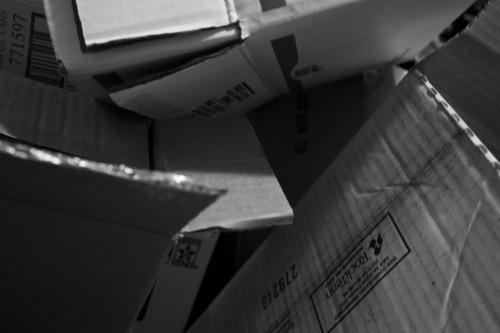 Photo 159: Boxes It has been so crazy lately. The last few days I was taking the photos with my phone because my Boyfriend needed it. I was also away from my computer most of the weekend. I wish I thought things were going to calm down, but I don't think they are.