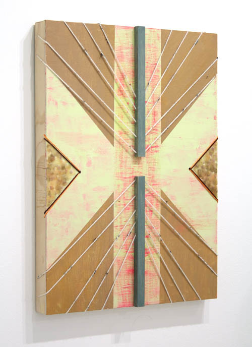 "alexebstein:  Untitled (Webelo)Acrylic, Yarn, String, Wood and Wax on Panel24"" x 18""2012"