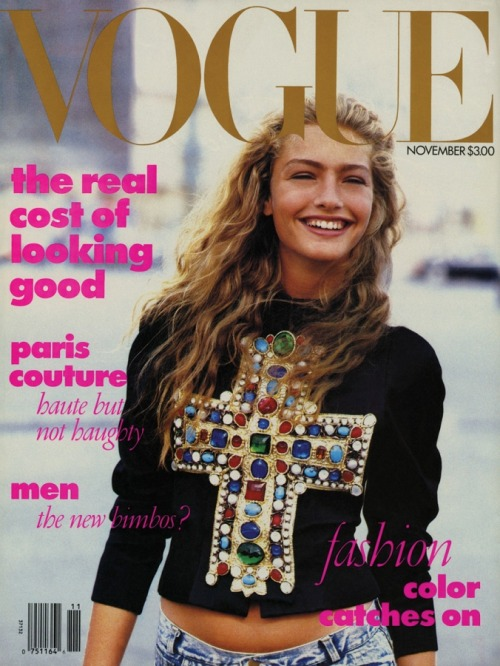 Anna Wintour's first Vogue cover, November 1988