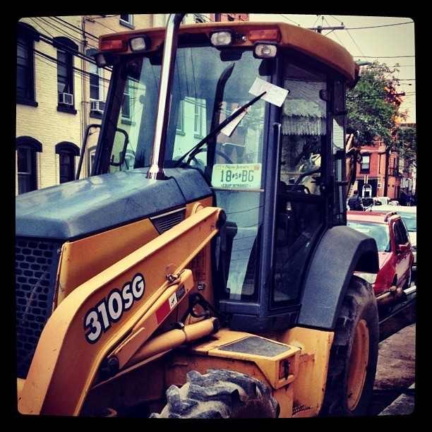 millertime83:  Construction equipment with parking tickets in Hoboken #hoboken (Taken with Instagram at Hoboken, NJ)  Is a boot next?