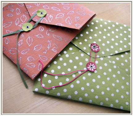 my-colouring-book:  handmade envelopes by liquidskyarts on Flickr.