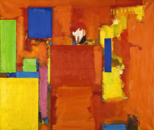 The Golden Wall by Hans Hofmann, 1961. Hofmann was a German abstract expressionist who worked primarily in New York and Provincetown, Massachusetts. He opened several schools here and famous graduates include the artists Lee Krasner (Jackson Pollock's wife) and Helen Frakenthaler.