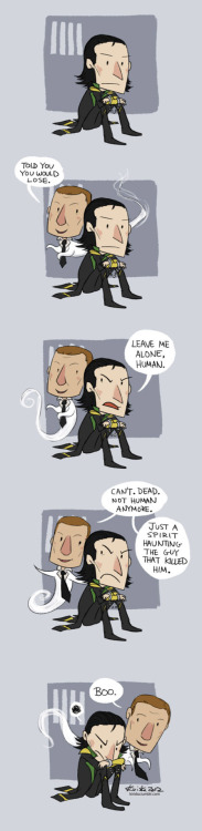 theboredpaperclip:  Told You (SPOILERS for the Avengers) by *Kiriska