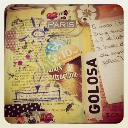 #journal #smash #scrapbook #smashbook #paris #washi #tape #decotape #collage #icecream (Scattata con Instagram)