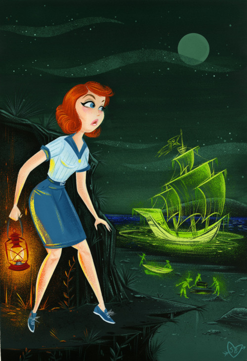 Nancy Drew, painted with gouache and cel-vinyl on watercolor paper.