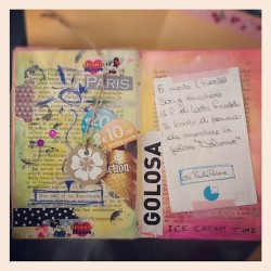 #paint #journal #smash #scrapbook #smashbook #washi #tape #decotape #collage #icecream #paris #recipes (Scattata con Instagram)