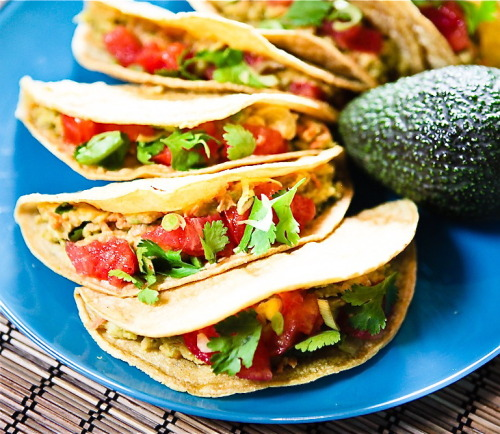 findvegan:  Cilantro Avocado Chickpea Salad Tacos
