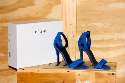 ezzu:  celine blue suede shoes