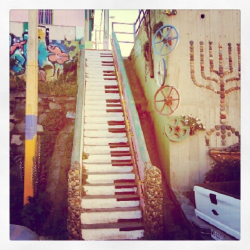 #stairs #piano #artwork #art #amazing #yellowsprings #ohio #legit (Taken with Instagram)