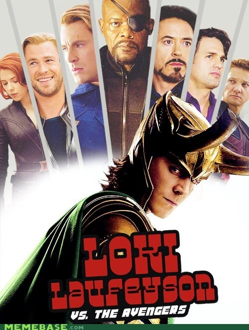 missasaurus:  Scott Pilgrim vs the world—Loki vs the Avengers….epic XD