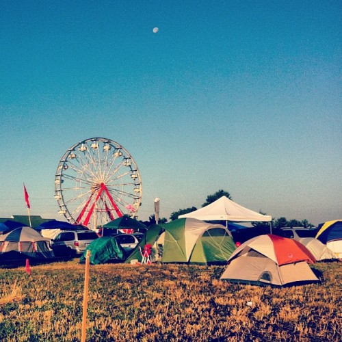 The #lovely #scenic #view from our #campsite at #bonnaroo!  (Taken with Instagram)
