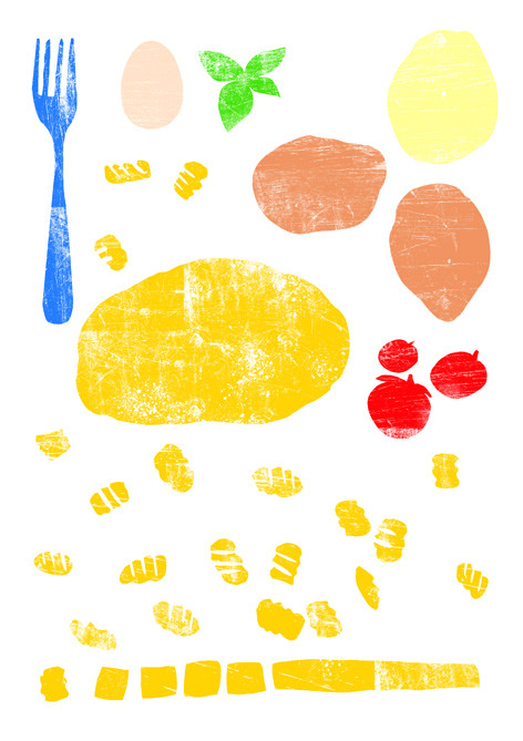 Illustration I did for Carluccio's Bambini Gnocchi making classes.