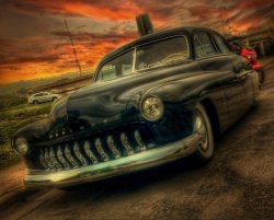 tasteforthetasteless:  Madness!Old car ori pic by @alanbarley edit by me #all #allshots #gangfamily #HDR #inhil #streamzoo (from @ryosky on Streamzoo)