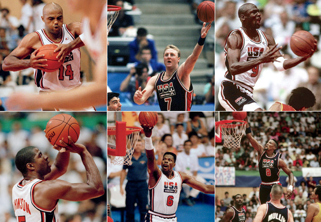 "gq:  The Dream Will Never Die:An Oral History of the Dream Team Magic. Bird. Jordan. Barkley. Ewing. Legends at every position on the floor. Hall of Famers filling the bench. They were the greatest team ever assembled—in any sport—and twenty years ago in Barcelona, they put on a show the world will never forget. GQ contributor Lang Whitaker spent months assembling this one, and it reads like lightning. (Also, stay tuned this week to GQ.com: lots of outtakes to come.) So many great bits from the oral history to choose from, but this portion, about the legendary first scrimmage between the Dream Team and a squad of college all-stars, is a personal favorite:  Allan Houston (college squad player): We were asked to play a style that they hadn't really seen a lot of yet. We figured we had nothing to lose. So we go in there, and Penny gets a couple dunks. I remember hitting a couple of shots. Everybody's kind of flowing. Penny Hardaway (college squad player): They just thought, ""Okay, they got these young guys to give us a little warm-up. We're going to beat them up a little bit, sign a couple autographs, and then everybody go on about their merry way."" They didn't know how talented we really were. Brian McIntyre (NBA vice president of public relations): Penny had a couple of steals at midcourt, and everyone was going, ""Whoa."" There was—I can still feel it—there was tension. First day! Charles Barkley: The first time we saw them, they looked like babies. We were like, ""Hey, man, let's don't kill these little kids."" And they were playing like it was Game 7. Before we knew it, they upset us. Houston: The clock ran out—we had a twenty-minute clock—and we were up. And everybody looked around sheepishly, like, This is not supposed to happen. Nobody said anything for a few minutes. Karl Malone: We took them for granted, and they kicked our butt. And Coach Daly just had that look on his face like, ""Well, this is what we told you guys. You gotta be ready."" After that, we was chomping at the bit to play them again that same day, but he didn't let us. He let us stew on it a little bit. Chris Webber (college squad player): When we busted their ass, they didn't say any prima donna stuff—""We let you win."" That night was special. I remember me and Bobby Hurley decimating the golf course on some golf carts because we were so excited. Houston: Back at the hotel, I was on the same elevator as Bird and C-Webb, and C-Webb was chirping. Bird got off the elevator and said, ""Don't worry, tomorrow's a new day."" He kind of left us with that thought. And yeah, we got back in there, and it was a new day. [laughs]  Barkley: We sent them a little message. Webber: We didn't score a point. Not one point. Not a point on a free throw, not a point in the game. We were the perfect wake-up call for them, and they were the perfect reality check for us. McIntyre: When the buzzer sounded, Barkley walks over to the other bench and says, ""You guys are just lucky we didn't come out with an attitude today."" Just cracked me up."