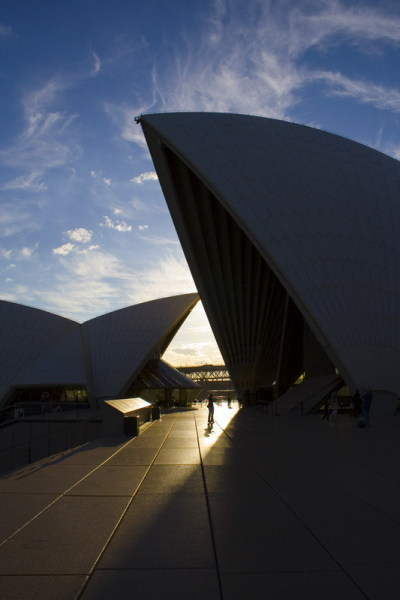 Sydney Opera House in the late afternoon