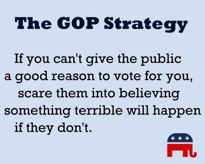divineirony:  The GOP strategy