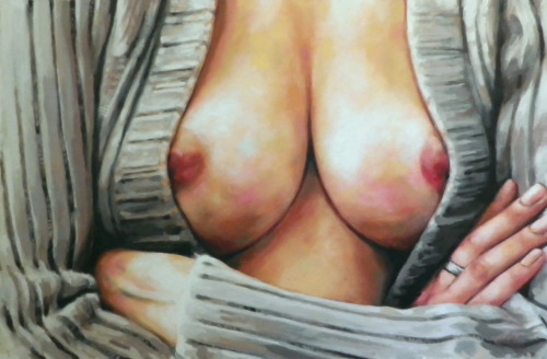 Breast'n wool just finished Oil on canvas (100/70cm)