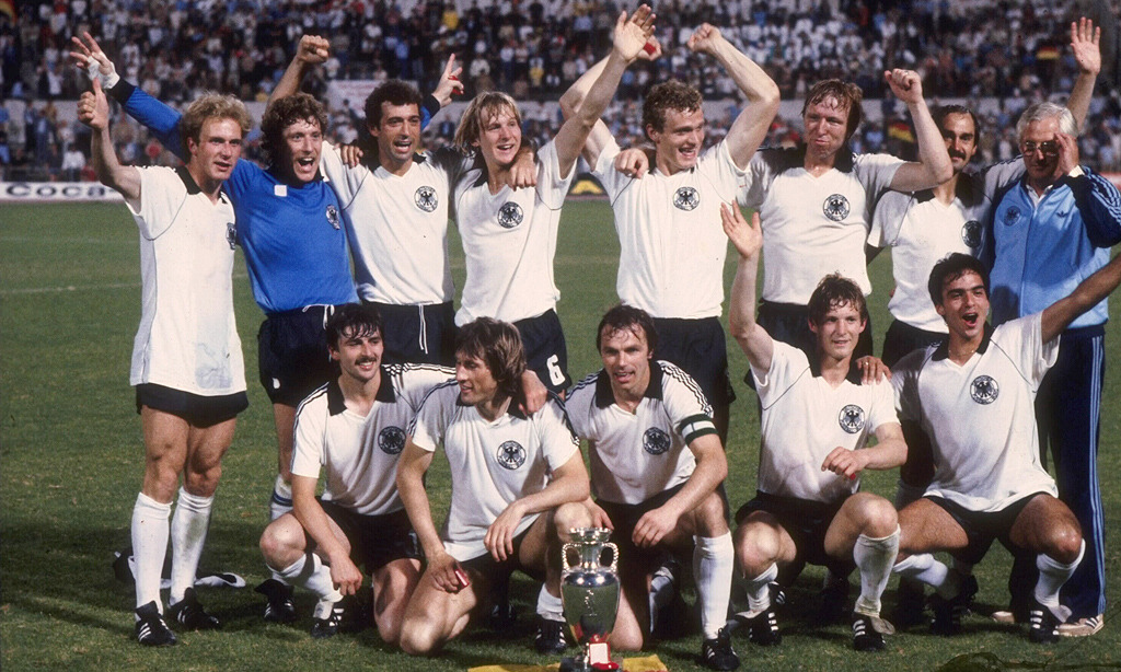 Victory in Rome. West Germany celebrate winning Euro '80. Source: MTV3