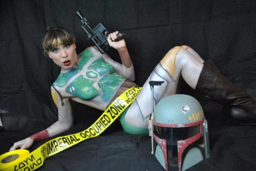 starwarsgonewild:  Booba Fettish Body Painting