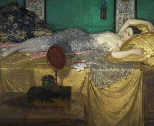 soyouthinkyoucansee:   soyouthinkyoucansee William Russell Flint Silver and gold, 1929-1930