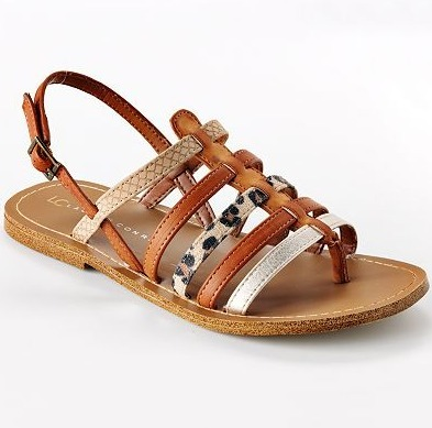 LC Lauren Conrad Gladiator Sandals - $21.99, Kohl's I love the mix of prints in these gladiator sandals. Think I can start a petition for Lauren Conrad to start making her shoes in Size 11? [Get an extra 15% off with code PICNIC15]