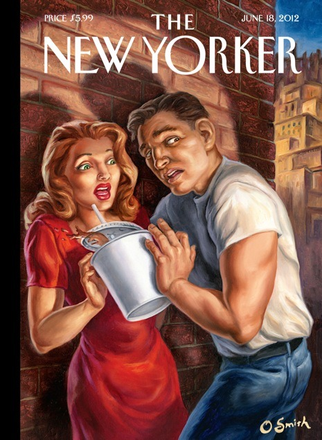 "— ""Soda Noir,"" this week's New Yorker cover by Owen Smith (read more here)"