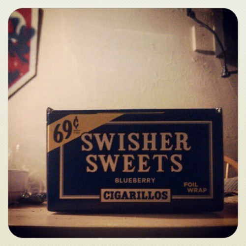 -a box of #blueberry #swishers. #420 #instawhoa  (Taken with Instagram)