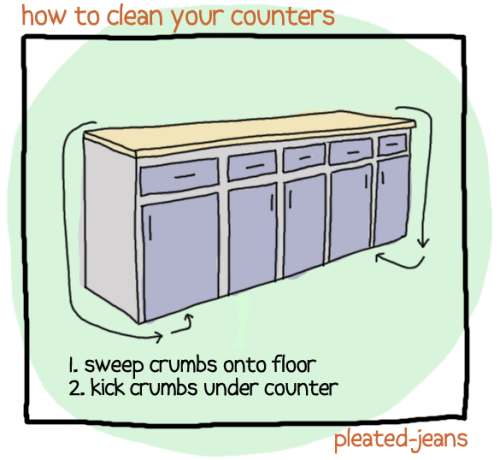pleatedjeans:  how to clean your house