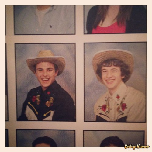 Cowboys in the Yearbook Who needs girls when we've got costumes?