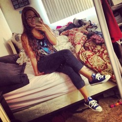 Freshkicks #new #converse #blue #glasses #monday #asleep #girl #awkwardarm #abouttodie #schoolsucks #hello (Taken with Instagram)