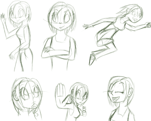 Trying out some human shapes again.  Just sketches this time. Feedback appreciated, as always!