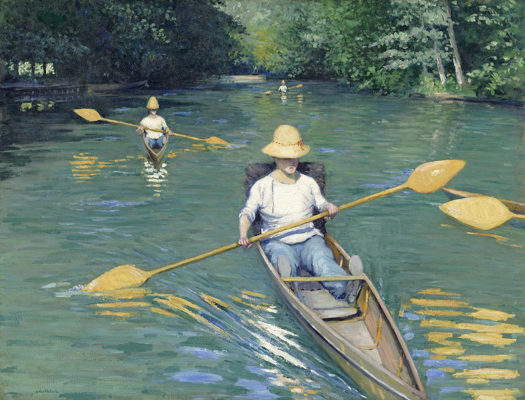 fckyeaharthistory:  Gustave Caillebote - Skiffs, 1887. Oil on canvas