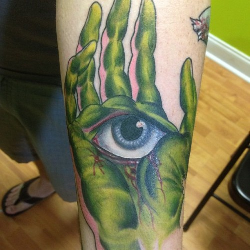 fuckyeahtattoos:  Part of a zombie sleeve.  done by White Trashmatt Instagram- WhiteTrashMatt Twitter @WhiteTrashMatt Facebook.com/WhiteTrashMatt www.LowTidetattoos.com