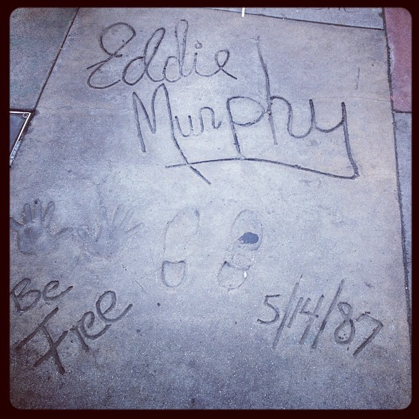 Eddie Murphy #losangelos #hollywood #walkoffame #california  (Taken with Instagram)