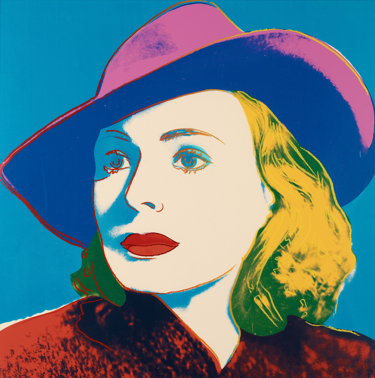 Andy Warhol - Portrait of Ingrid Bergman, 1983. Screenprint