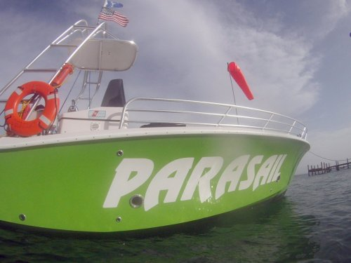 The SkySkraper is ready….are you? Want the longest parasail ride in town? Check us out at http://www.xtremeh2o.net/parasail.html and call us today!