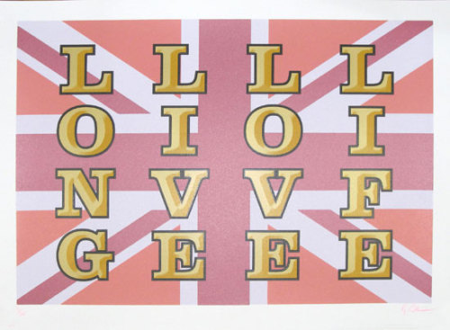 Long Live Love Life Silkscreen Signed Limited Edition of 60 by Ryan Callanan