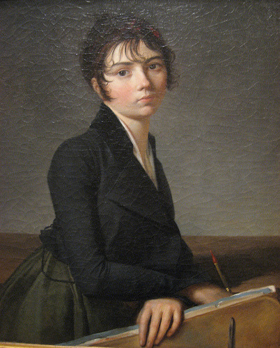 Guillaume Guillon-Lethière (1760-1832)Girl with portfolio 1799