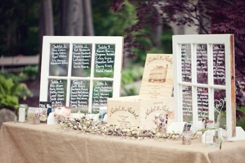 weddingdose:  DIY window seating arrangement