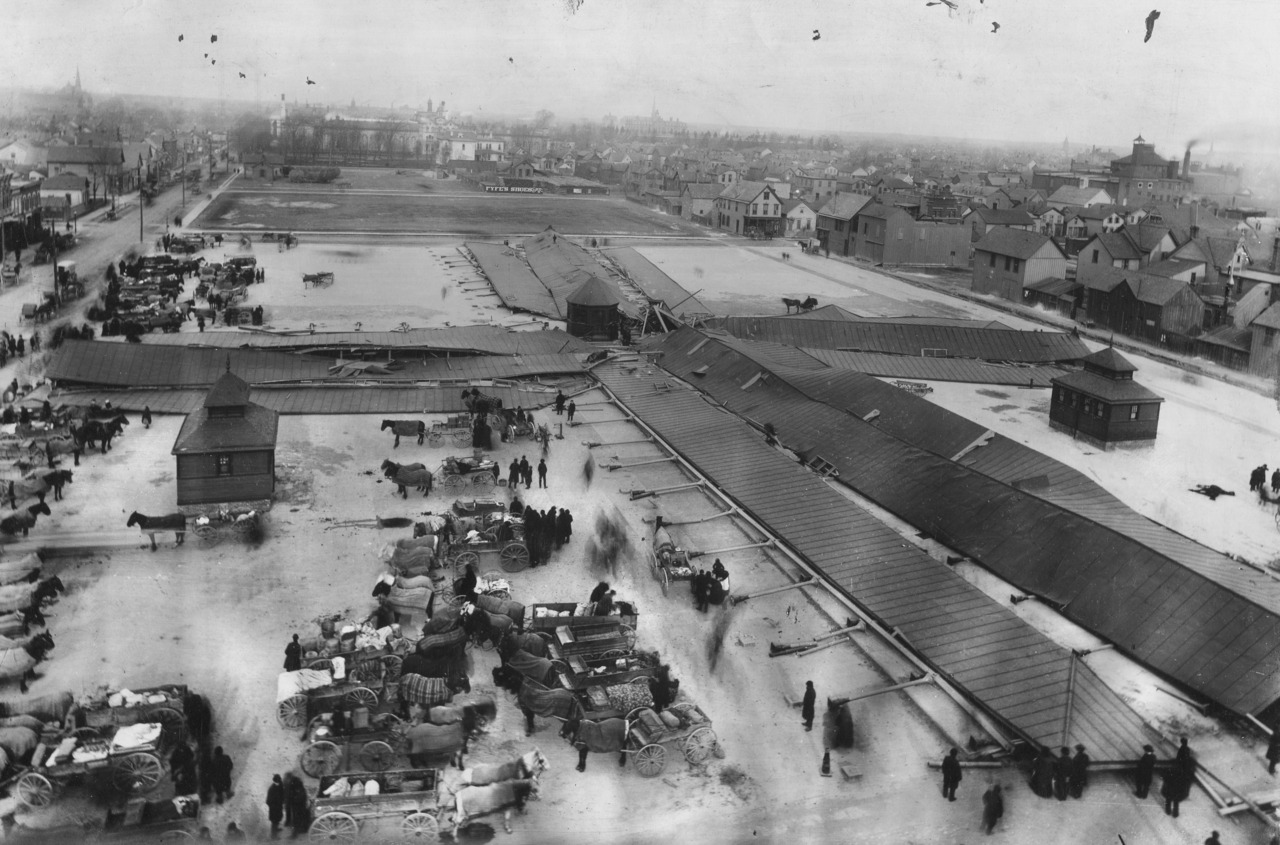 Wind storm.  Detroit Eastern Market, March 30, 1934.