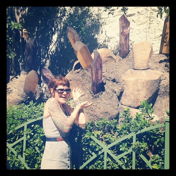Colette just collecting crystals in Vegas  (Taken with Instagram at Siegfried & Roy's Secret Garden and Dolphin Habitat)