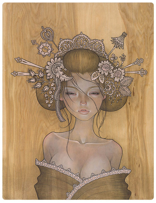 amazing paint by Audrey Kawasaki.