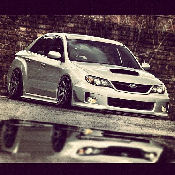 Oh my goodness…#subaru #impreza #wrx #sti #sedan #mbbattles #concave #slammed #stanced (Taken with Instagram)