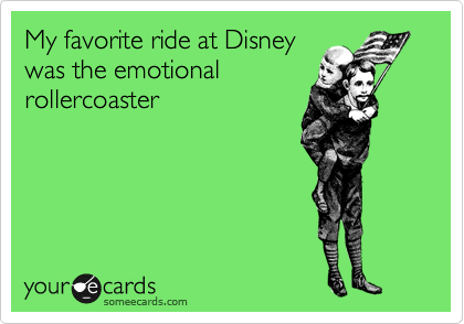 <3 My favorite ride at Disney was the emotional rollercoaster <3