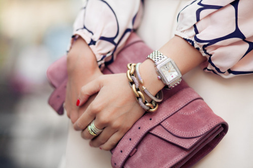 what-do-i-wear:  Top :: Tucker, Bag :: Proenza Schouler,  Accessories :: Phillip Lim belt, David Yurman, J.Crew, Gorjana, watch Michele (image: wendyslookbook)