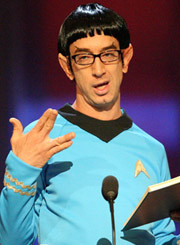 If Captain Kirk and Spock had a love child, Andy Dick would be it.  Here he is on the classic Roast of William Shatner, airing This Thursday at 9:30/8:30c on Comedy Central.