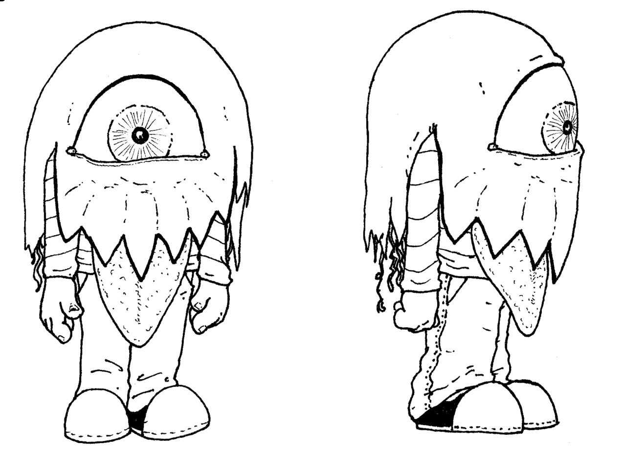 Monster sketch for children's book concept #1. Original art and writing © Jasey Crowl 2012